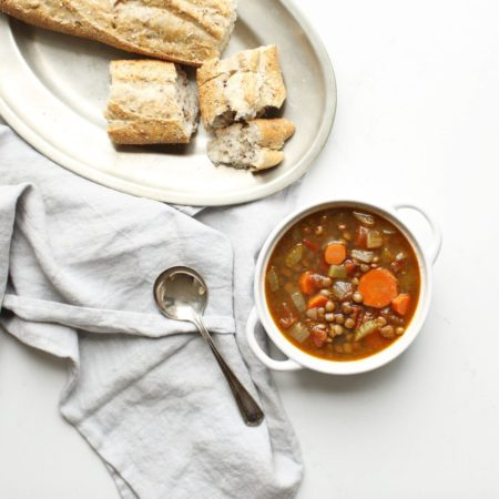 Hearty Lentil Soup (vegan & gluten free)