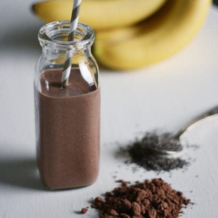 Chia Chocolate Peanut Butter Smoothie