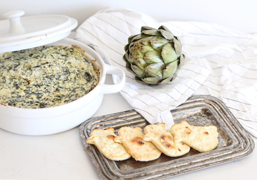 Spinach & Artichoke Dip {Swamp Dip} with Ghost Toasts