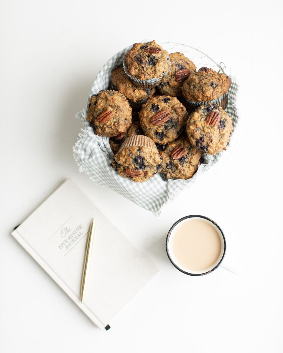 "A basket full of Sneaky Mommy Muffins: Designed by a Registered Dietitian, these ""Fruit and veggie"" muffins filled with healthy vegetables, fibre, lightly sweetened with a vegan option! These freeze beautifully."