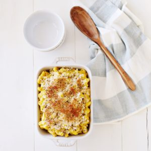 Vegan Mac n' cheese made with butternut squash, caramelized onions and cashews that is totally to die for - designed by a dietitian and so much more nutritious than regular Mac n cheese!