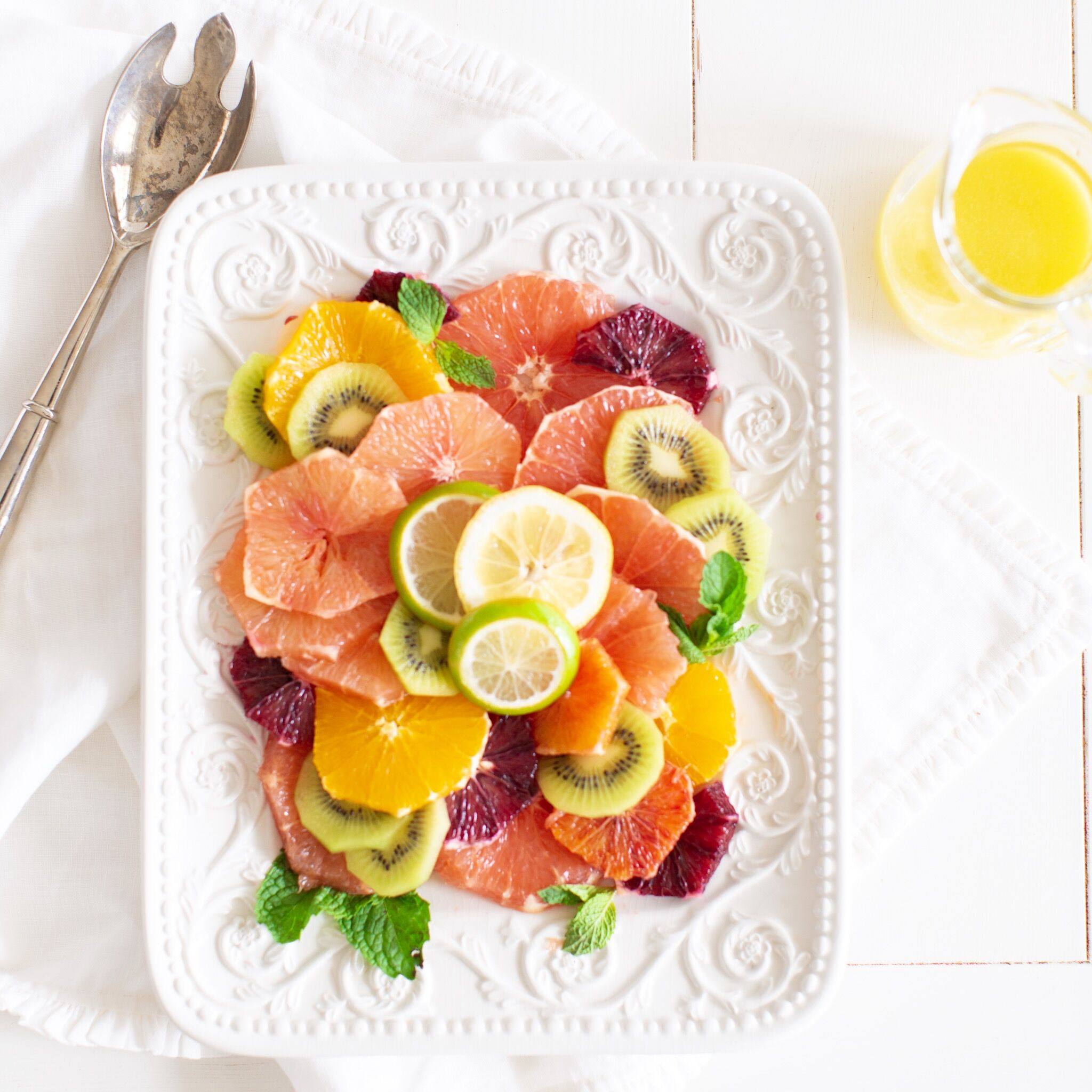 Mixed Citrus Kiwi Salad with Honey Lime Vinaigrette