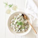 Creamy Potato Dill Salad made with Greek Yogurt