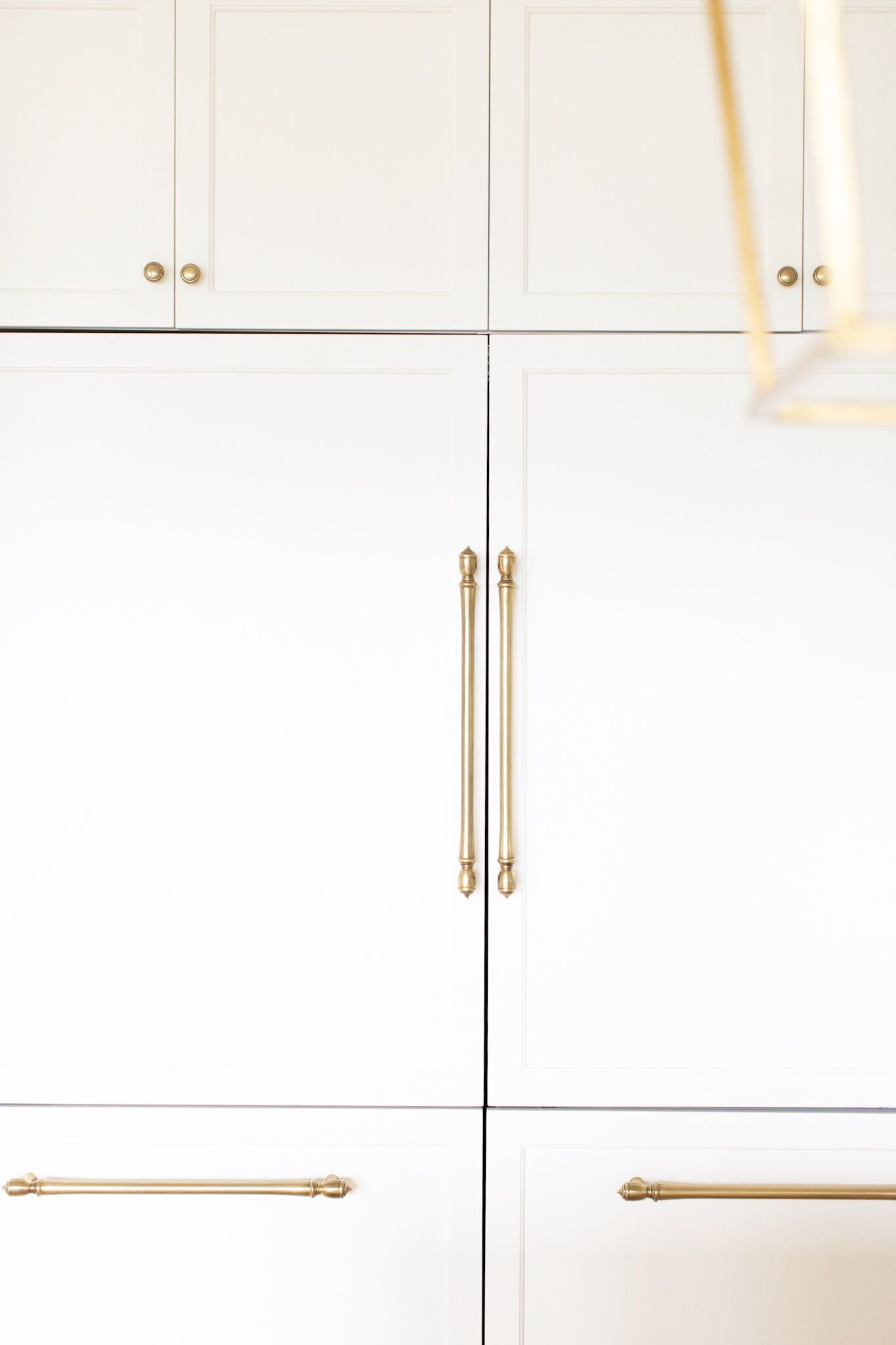 Fraiche Nutrition White Kitchen Reveal brass hardware