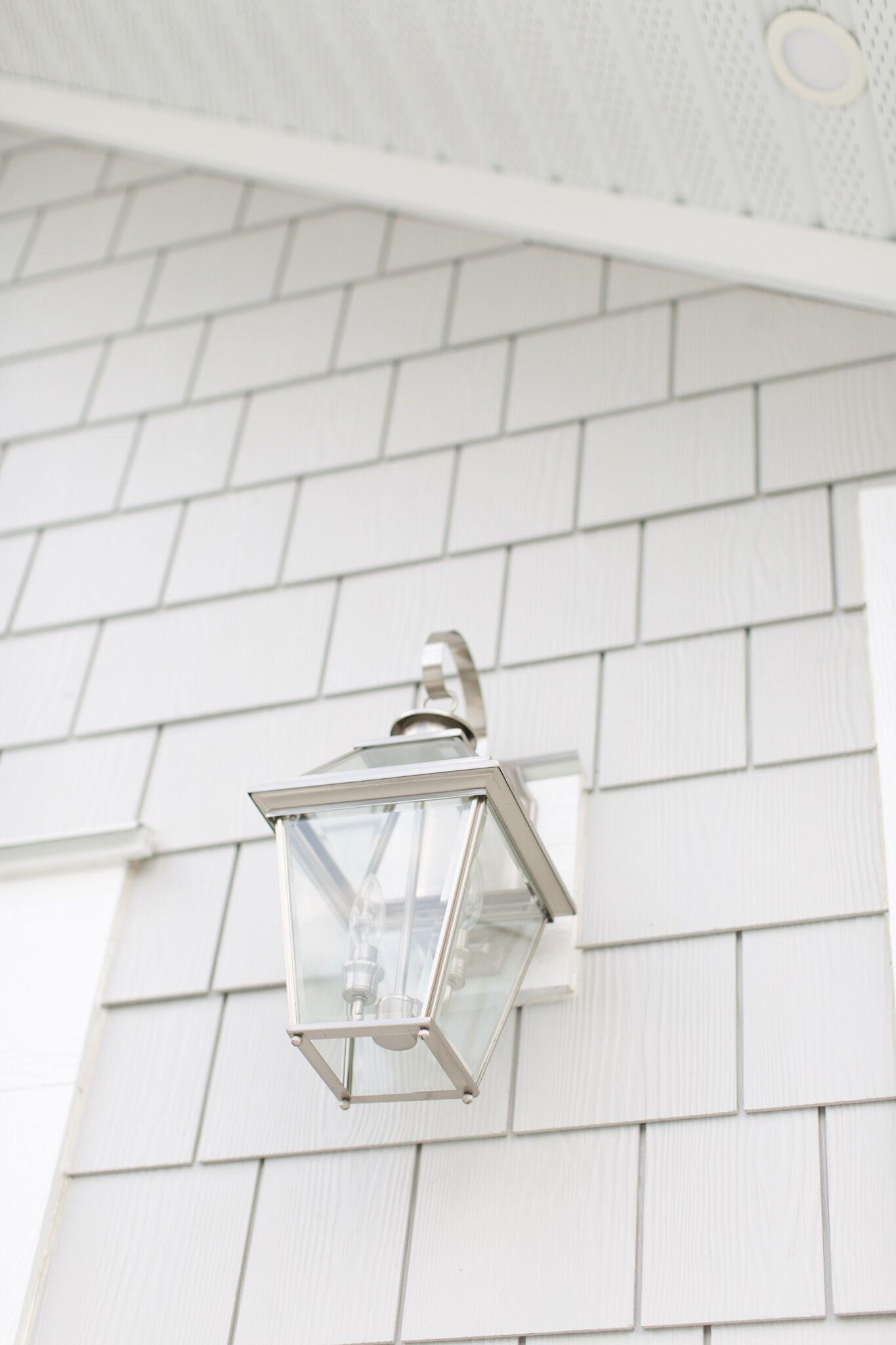 Silver exterior lanterns