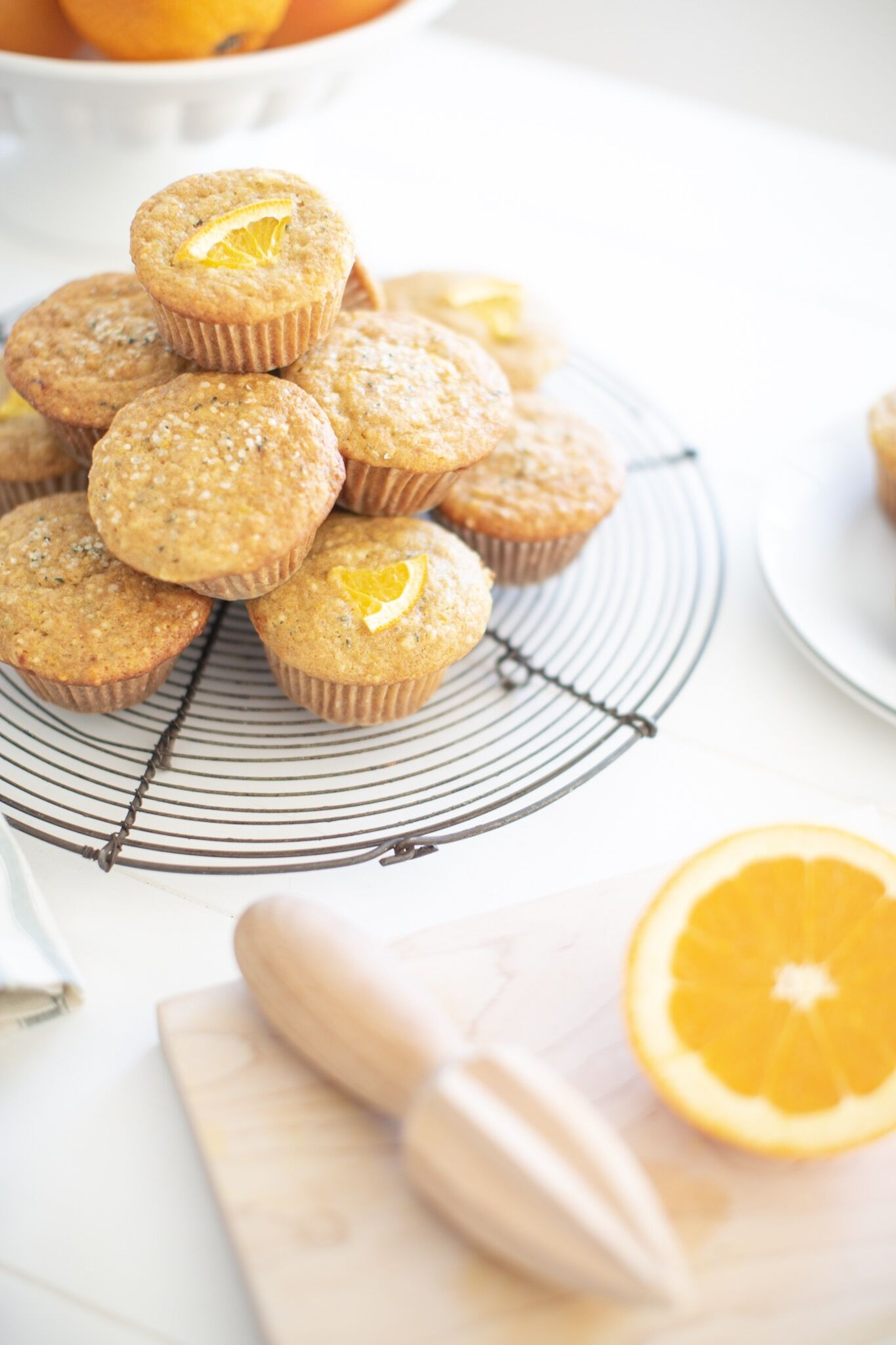 Orange Hemp Heart Muffins - healthy, naturally sweetened and school lunch friendly!
