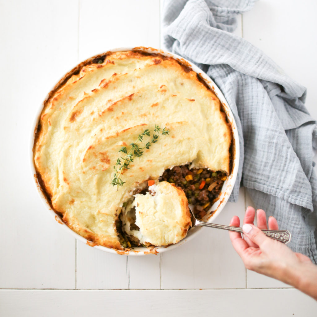 Shepherd's Pie made plant based with Beyond Beef