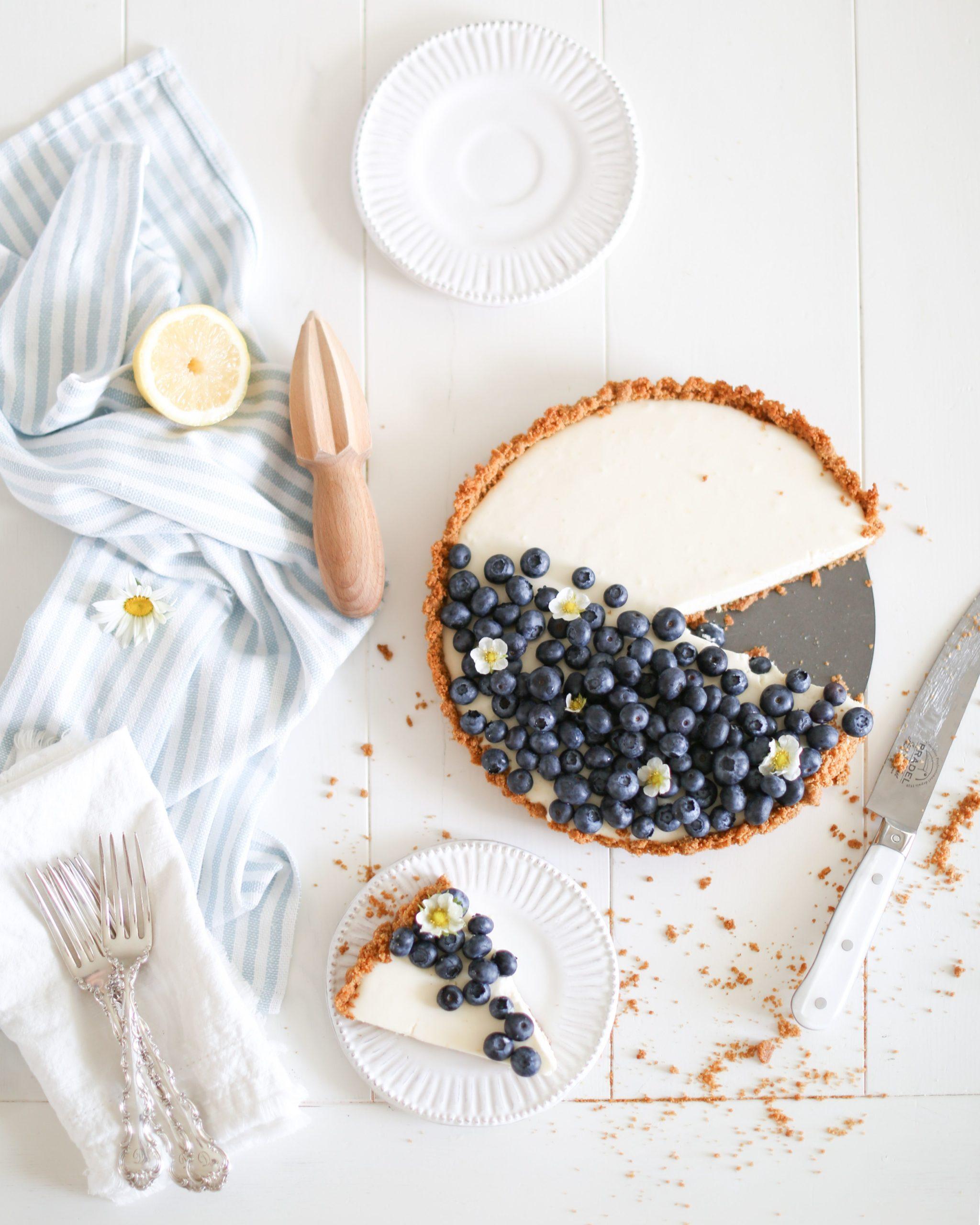 No Bake Lemon Yogurt Cheesecake
